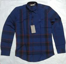 BBerry Brit Checkered Shirt - Dark Blue w Red Line - Imported