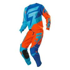 Shift MEGA SALE Motocross Hose + Jersey FACTION orange-blau MX Pant Shirt Enduro