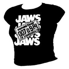JAWS film inspired license plate and logo - Cult 1975 film ladies cotton T-Shirt