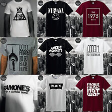 MUSIC T-SHIRT NIRVANA RAMONES SKIRT SHIRT THE1975 ARCTIC MONKEYS FOB