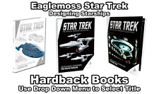 Eaglemoss Star Trek: Designing Starships Vol. 1 & Vol. 2 Books - Hardbacks New