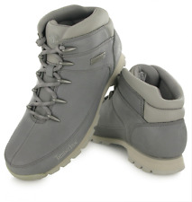 Timberland Mens A1FUD Euro Sprint Hiker Casual Leather Ankle Boots Grey (#10864)