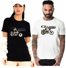 British Classic Motorcycle Biker Cafe Racer Motorbike Racing Green Lady T Shirt