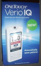 NEW ONE TOUCH VERIO IQ BLOOD GLUCOSE MONITORING SYSTEM DIABETES KIT