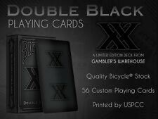 CARTE DA GIOCO BICYCLE DOUBLE BLACK,poker size