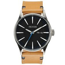 Nixon Herren Uhr Sentry Leather - Natural / Black