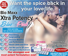 BioMaxx Xtra Potency .Herbal Sex Tabs Double Strength Strong Supplement For Men