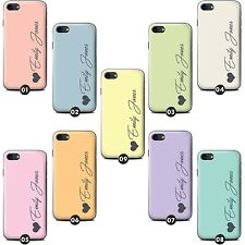 Personalised Custom Pastel Tones Phone Case/Cover for LG G Smartphone Initial