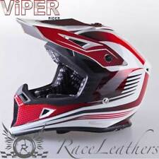 VIPER MOTARD rsx95 BLANC ROUGE MOTOCROSS MX Moto Moto-cross casque
