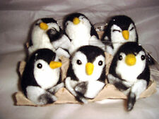 New Pin Felt Needle Felted Collectible Baby Penguins Single Pairs Egg Box of 6