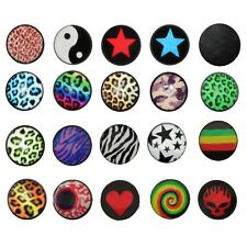2 Stk. 10 mm Fakeplugs Fake Plug Fakes Tunnel Ohrstecker Ohrringe Fakepiercing