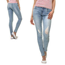 Only Jean femme Pantalon Skinny Fit Moulant Stretch Denim Used Look NEUF