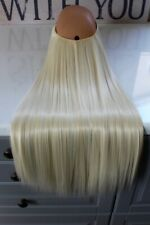 """Hair Extensions Straight Halo Headband Invisible Wire Hidden Secret 22"""" 140g"""