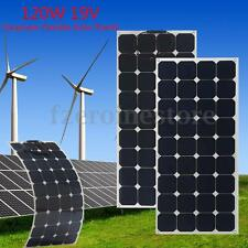 120W 19V Flexible Solar Panel Battery Charger w/1.5m Cable For Boat Caravan Home