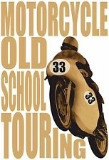 MOTO MOTORCYCLE OLD SCHOOL RACING BIKE BIKER ROAD RACING TOURING RACES HOODIE
