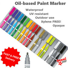 Universal Waterproof Permanent Paint Pen Oil Marker for Car Tyre, Arts & Crafts