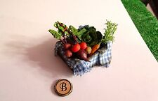 Dollhouse Miniature 1:12 Scale OOAK Box of Vegetables View B IGMA - CWE