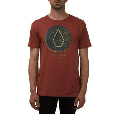 Volcom Herren T-Shirt CRACKED BSC SS - DARK CLAY