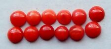 Coral Half Rounds 3.8-4.2 mm. Natural; Vintage Stones  12 pcs. / Oxblood Shades