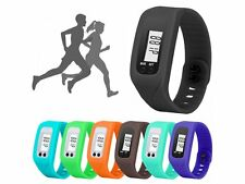LCD PEDOMETER WRIST WATCH new SPORT CALORIE STEP WALKING COUNTER FITNESS  W32
