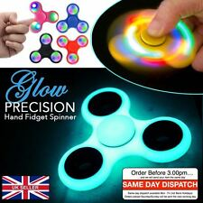 3 LED light Fidget Hand Spinner Finger Spiner Toy EDC Stress ADHD Cube UK Post