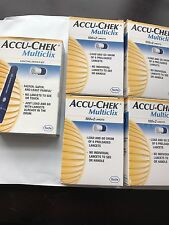 Accu-Chek MULTICLIX Lancing  Device And 4 Boxes Of Lancets