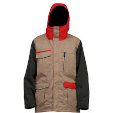 Ride Pioneer Jacket Men's Snowboard Jacket (Dark Khaki Herringbone)