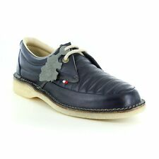 POD Heritage Jagger Mens Leather 2-Eyelet Shoes Navy Blue