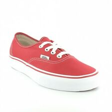 Vans Authentic Unisex 4-Eyelet Deck Shoes - Red & White
