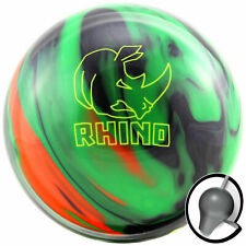 Bowling Ball Brunswick Rhino Black Green Orange 10 bis16 lbs Reaktiv Strikeball