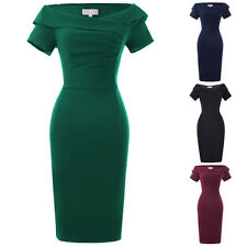 Elegant Retro Lady Vintage Casual Party 50s Wiggle Pencil Dress Cocktail Evening