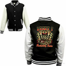 Varsity Giacca College Auto Sportiva Rockabilly Old School Racing Kustom 1103