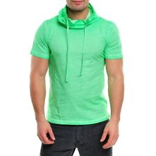 WASABI CLUBWEAR PARTY CLUB SPRAYED HUGE COLLAR POLO SHIRT T-SHIRT WSB-1349K GRÜN