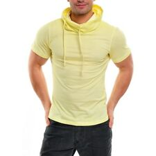 WASABI CLUBWEAR PARTY CLUB SPRAYED HUGE COLLAR POLO SHIRT T-SHIRT WSB-1349K GELB
