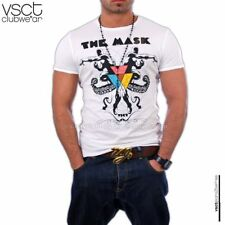 GEILES VSCT DESTROYED PARTY CLUB T-SHIRT V-0160 WEIß