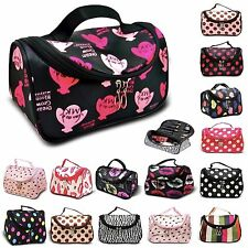 Travel Organiser Accessory Toiletry Zebra Cosmetic Make Up Holder Case Bag Pouch