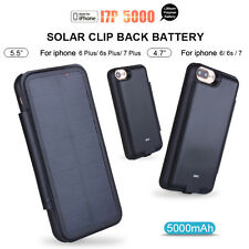 Solar Power Battery Charger Case Cover Power Bank für iPhone 6 6s Plus 7 7 Plus