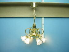 Dollhouse Miniature Battery Operated Light 6 Arm Chandelier  #CL34S - 1/12th