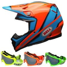 BELL MOTO-9 CHISPA Casco Motocross 2017 - orange + MX-Bude MX-2 Gafas - plata ve