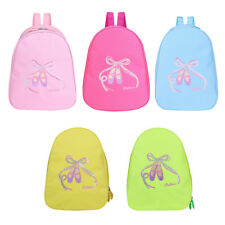 Girls Pink Ballet Bag Dance Sholuder Backpack Drawstring Embroideried Tote Pouch