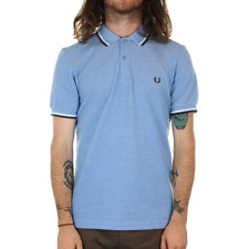 X Fred Perry Twin Tipped Polo Shirt - Prince Blue Oxford