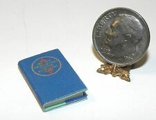 Dollhouse Miniature Book Dictionary Tiny Details 1:12 Scale