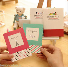 Episode Diary Notebook cute colorful cartoon blank pocket jotter wriing memo