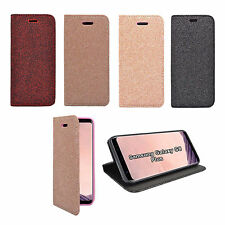 SAMSUNG GALAXY S8 Plus MAGNETICO GLITTER BOOK FLIP CUSTODIA COVER VARI COLORI