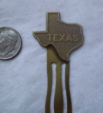 Vintage Solid Brass Bookmark- TEXAS STATE design accent