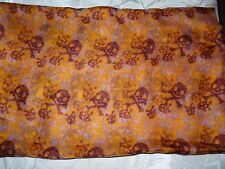 Large scarves with skull & crossbones design-cerise & black/deep orange & brown