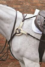 HyCLASS Premium Breastplate for Horses Dark Brown/ Black One Size 454P