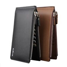 Men's Bifold Leather Credit Card Holder Billfold Wallet Purse Checkbook Clutch