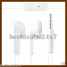 New White OEM Original HTC RC E195 Flat Cable Out Ear Stereo Handsfree Headset
