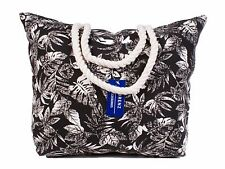 Ladies Large Beach Black & White Design Shoulder Tote Summer Casual Holiday Bag